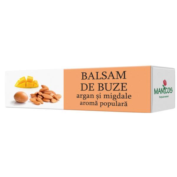 Balsam de Buze cu Argan si Migdale Manicos, 4.8g poza