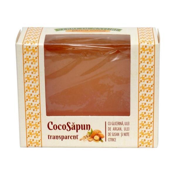 CocoSapun Transparent cu Glicerina, Argan, Susan si Note Citrice Manicos, 50g imagine produs