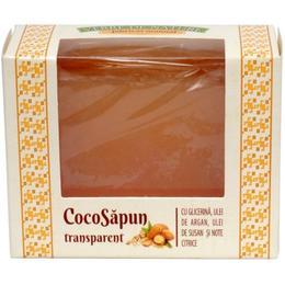 CocoSapun Transparent cu Glicerina, Argan, Susan si Note Citrice Manicos, 50g de la esteto.ro