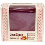 CocoSapun Transparent cu Glicerina, Argan, Migdale Dulci si Parfum de Roze Manicos, 50g
