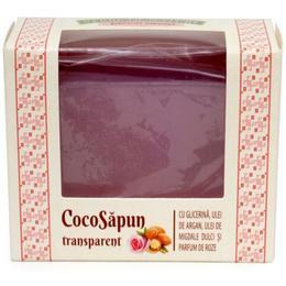 CocoSapun Transparent cu Glicerina, Argan, Migdale Dulci si Parfum de Roze Manicos, 50g de la esteto.ro