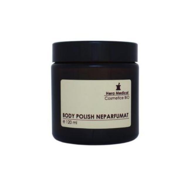 Exfoliant corporal Body Polish neparfumat, Hera Medical Cosmetice BIO, 120 ml imagine produs