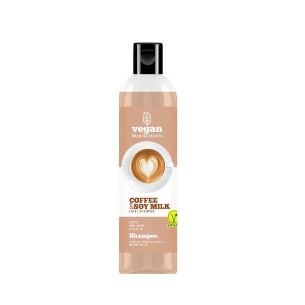 Sampon cu lapte de cafea si lapte de soia pentru intarirea, anti imbatranirea si energia firului de par Vegan Dessert Spa 300 ml