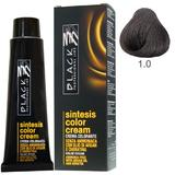 Vopsea Crema fara Amoniac - Black Professional Line Sintesis Color Cream Ammonia Free, nuanta 1.0 Black, 100ml