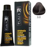 Vopsea Crema fara Amoniac - Black Professional Line Sintesis Color Cream Ammonia Free, nuanta 3.0 Dark Brown, 100ml