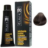 Vopsea Crema fara Amoniac - Black Professional Line Sintesis Color Cream Ammonia Free, nuanta 4.0 Medium Brown, 100ml