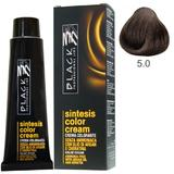 Vopsea Crema fara Amoniac - Black Professional Line Sintesis Color Cream Ammonia Free, nuanta 5.0 Light Brown, 100ml