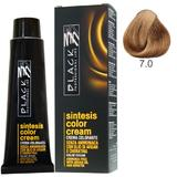 Vopsea Crema fara Amoniac - Black Professional Line Sintesis Color Cream Ammonia Free, nuanta 7.0 Medium Blond, 100ml