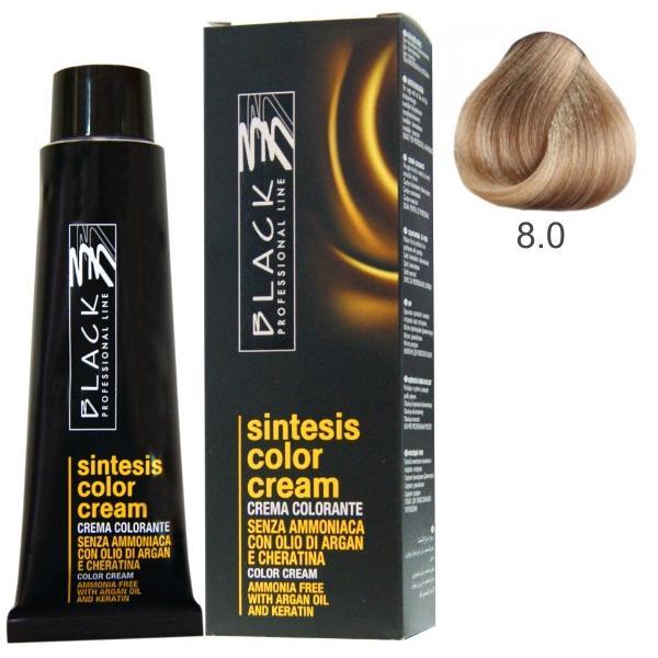 Vopsea Crema fara Amoniac - Black Professional Line Sintesis Color Cream Ammonia Free, nuanta 8.0 Light Blond, 100ml esteto.ro
