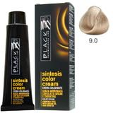 Vopsea Crema fara Amoniac - Black Professional Line Sintesis Color Cream Ammonia Free, nuanta 9.0 Ultra Light Blond, 100ml