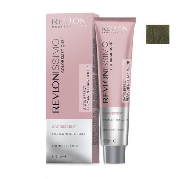 Vopsea Crema Permanenta - Revlon Professional Revlonissimo Colorsmetique Satinescent Permanent Hair Color, nuanta 713 Khaki Bronze, 60ml