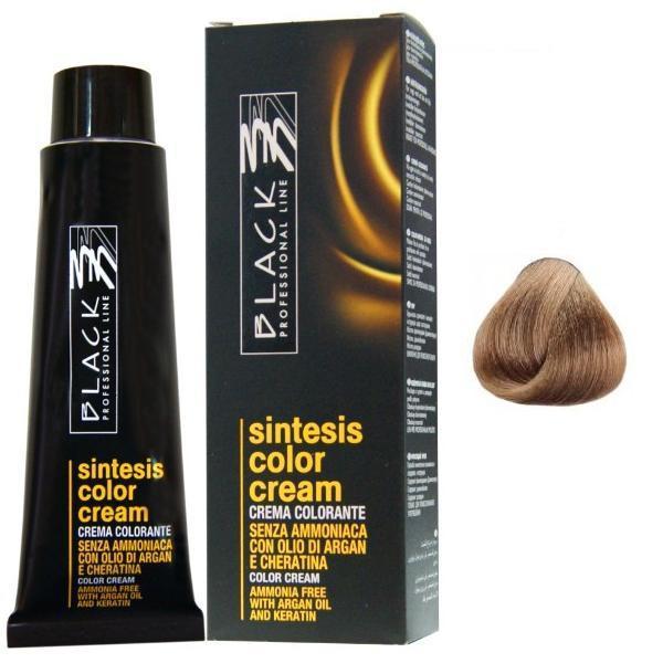 Vopsea Crema fara Amoniac - Black Professional Line Sintesis Color Cream Ammonia Free, nuanta 6.3 Dark Golden Blond, 100ml poza