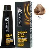 Vopsea Crema fara Amoniac - Black Professional Line Sintesis Color Cream Ammonia Free, nuanta 7.3 Medium Golden Blond, 100ml