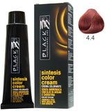 Vopsea Crema fara Amoniac - Black Professional Line Sintesis Color Cream Ammonia Free, nuanta 4.4 Copper Medium Brown, 100ml
