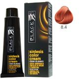 Vopsea Crema fara Amoniac - Black Professional Line Sintesis Color Cream Ammonia Free, nuanta 8.4 Copper Light Blond, 100ml