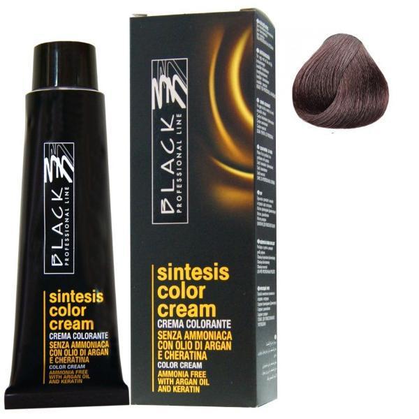 Vopsea Crema fara Amoniac - Black Professional Line Sintesis Color Cream Ammonia Free, nuanta 4.6 Purple Medium Brown, 100ml poza