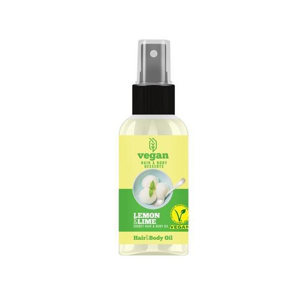 Ulei pentru păr și corp întinerire și hidratare cu lamaie si lime pentru părul și corpul tău Vegan Dessert Spa 100 ml