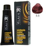 Vopsea Crema fara Amoniac - Black Professional Line Sintesis Color Cream Ammonia Free, nuanta 5.5 Mahogany Light Brown, 100ml