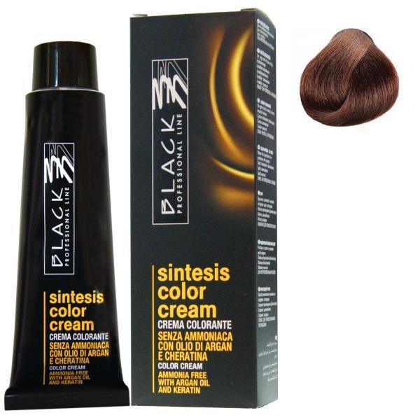 Vopsea Crema fara Amoniac - Black Professional Line Sintesis Color Cream Ammonia Free, nuanta 6.03 Milk Chocolate, 100ml imagine produs