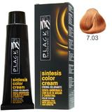 Vopsea Crema fara Amoniac - Black Professional Line Sintesis Color Cream Ammonia Free, nuanta 7.03 Amber, 100ml