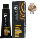 Vopsea Crema fara Amoniac - Black Professional Line Sintesis Color Cream Ammonia Free, nuanta 8.03 Honey, 100ml