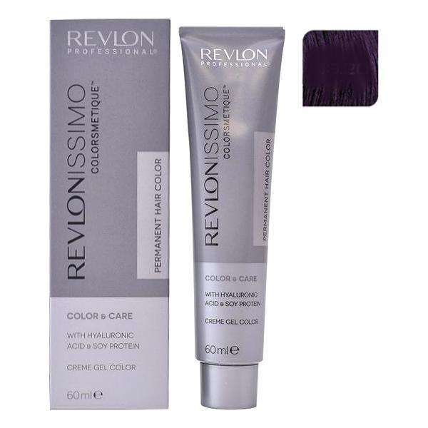 Vopsea Permanenta - Revlon Professional Revlonissimo Colorsmetique Permanent Hair Color, nuanta 33.20 Intense Dark Burgundy, 60ml