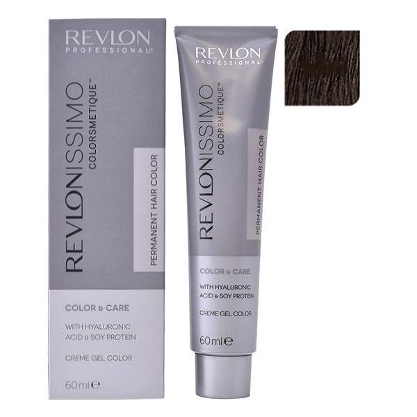 Vopsea Permanenta - Revlon Professional Revlonissimo Colorsmetique Permanent Hair Color, nuanta 4.11 Medium Intensive Ash Brown, 60ml