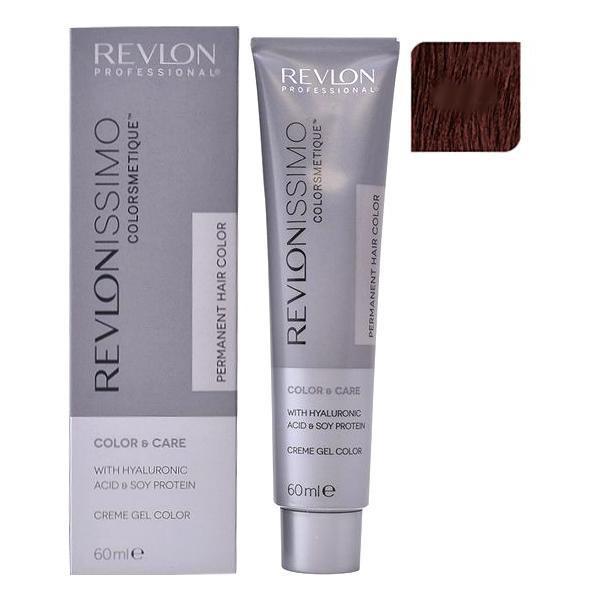 Vopsea Permanenta - Revlon Professional Revlonissimo Colorsmetique Permanent Hair Color, nuanta 4.15 Medium Mahogany Ash Brown, 60ml