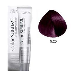 Vopsea fara Amoniac - Revlon Professional Color Sublime by Revlonissimo Amonia Free Permanent Color, nuanta 5.20 Intense Light Violet Brown, 75 ml
