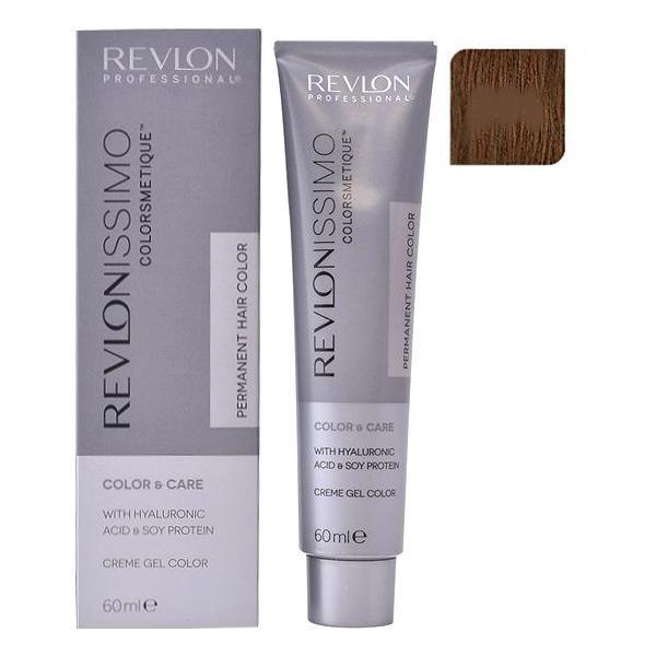 Vopsea Permanenta - Revlon Professional Revlonissimo Colorsmetique Permanent Hair Color, nuanta 5.34 Light Coppery Gold Brown, 60ml