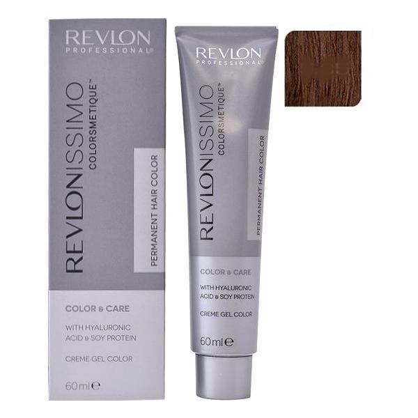 Vopsea Permanenta - Revlon Professional Revlonissimo Colorsmetique Permanent Hair Color, nuanta 5.35 Light Amber Brown, 60ml