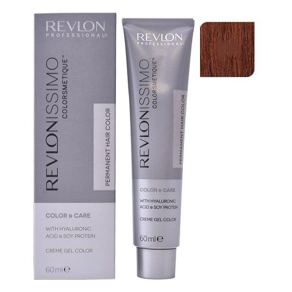 Vopsea Permanenta - Revlon Professional Revlonissimo Colorsmetique Permanent Hair Color, nuanta 5.4 Light Copper Brown, 60ml poza
