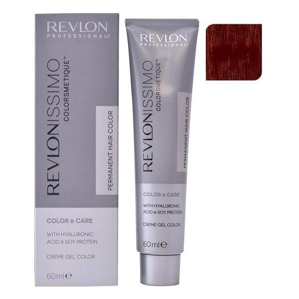 Vopsea Permanenta - Revlon Professional Revlonissimo Colorsmetique Permanent Hair Color, nuanta 55.64 Intense Coppery Dark Red, 60ml