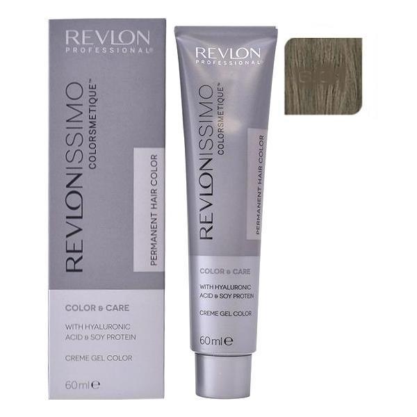 Vopsea Permanenta - Revlon Professional Revlonissimo Colorsmetique Permanent Hair Color, nuanta 6.01 Dark Natural Ash Blonde, 60ml