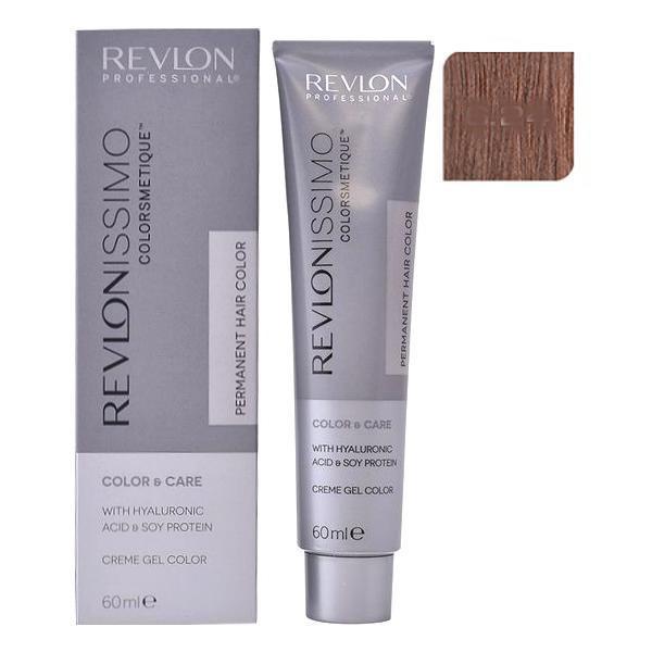 Vopsea Permanenta - Revlon Professional Revlonissimo Colorsmetique Permanent Hair Color, nuanta 6.24 Dark Coppery Pearl Blonde, 60ml