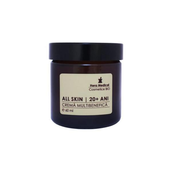 Crema multibenefica pentru femei 20+ ani, All Skin, Hera Medical Cosmetice BIO, 60 ml