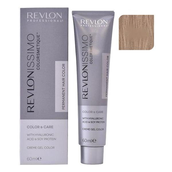 Vopsea Permanenta - Revlon Professional Revlonissimo Colorsmetique Permanent Hair Color, nuanta 7.12 Pearly Beige Blonde, 60ml