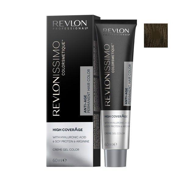 Vopsea Permanenta - Revlon Professional Revlonissimo Colorsmetique High Coverage Permanent Hair Color, nuanta 5 Light Brown, 60 ml poza