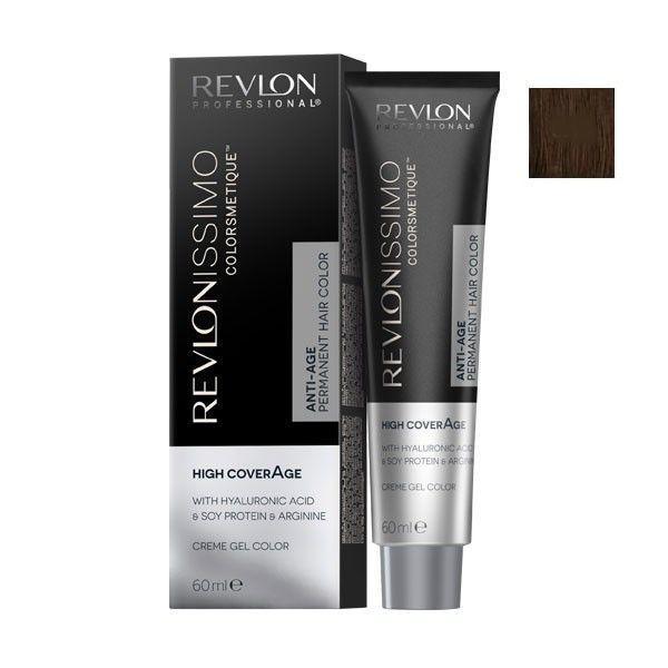 Vopsea Permanenta - Revlon Professional Revlonissimo Colorsmetique High Coverage Permanent Hair Color, nuanta 5.13 Light Beige Brown, 60 ml