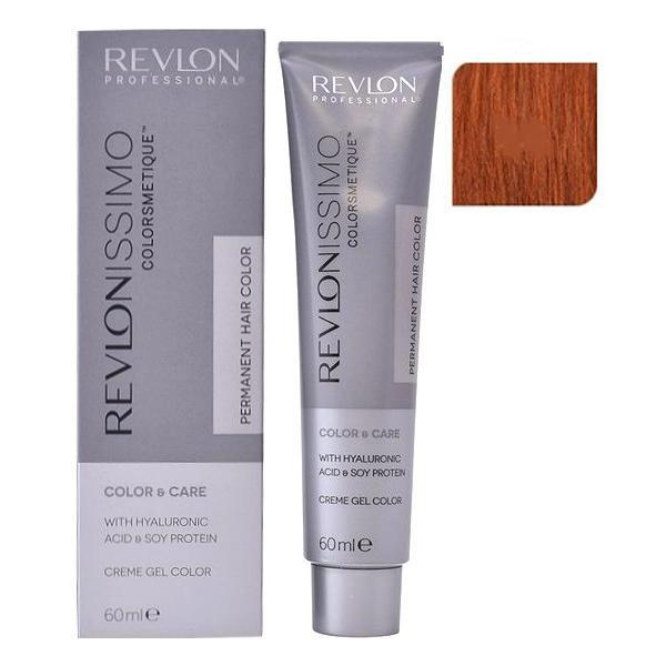 Vopsea Permanenta - Revlon Professional Revlonissimo Colorsmetique Permanent Hair Color, nuanta 7.4 Medium Copper Blonde, 60ml poza