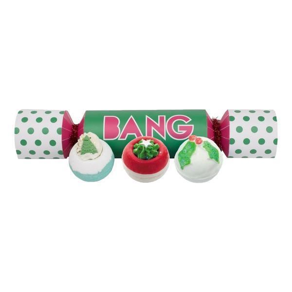 Set cadou Bang Cracker, Bomb Cosmetics - contine 3 bile efervescente imagine produs