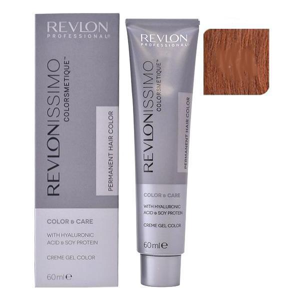 Vopsea Permanenta - Revlon Professional Revlonissimo Colorsmetique Permanent Hair Color, nuanta 7.44 Medium Intensive Copper Blonde, 60ml esteto.ro