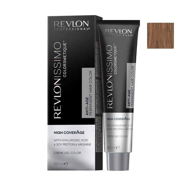 Vopsea Permanenta - Revlon Professional Revlonissimo Colorsmetique High Coverage Permanent Hair Color, nuanta 7.32 Pearl Blonde, 60 ml