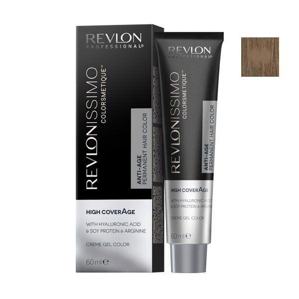 Vopsea Permanenta - Revlon Professional Revlonissimo Colorsmetique High Coverage Permanent Hair Color, nuanta 7.41 Natural Chestnut Blonde, 60 ml