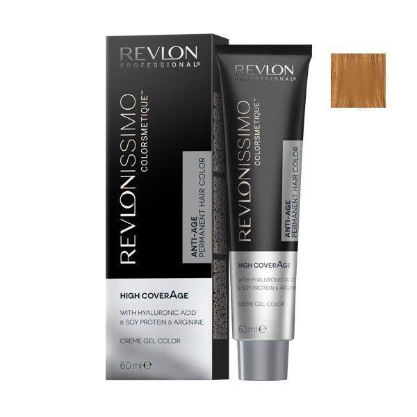 Vopsea Permanenta - Revlon Professional Revlonissimo Colorsmetique High Coverage Permanent Hair Color, nuanta 8.34 Light Hazel Blonde, 60 ml