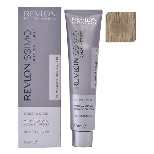 Vopsea Permanenta - Revlon Professional Revlonissimo Colorsmetique Permanent Hair Color, nuanta 8.01 Light Natural Ash Blonde, 60ml
