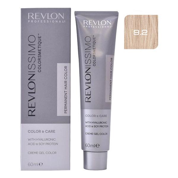 Vopsea Permanenta - Revlon Professional Revlonissimo Colorsmetique Permanent Hair Color, nuanta 9.2 Very Light Iridescent Blonde, 60ml
