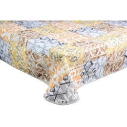 Fata de masa impermeabila, Casa de bumbac, Kiowas, 100x140 cm, geometric, galben si maro