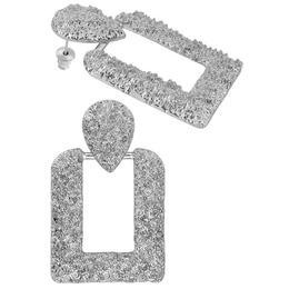 Cercei Zora Square Lucy Style 2000, argintiu