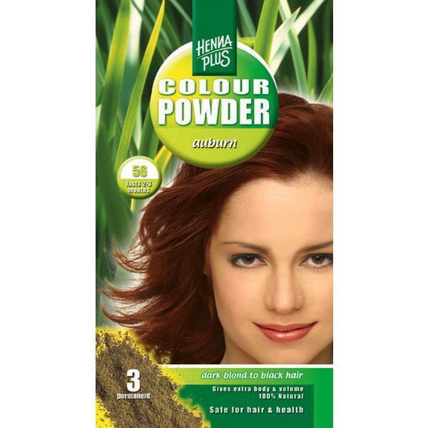 Pudra de hena, Colour Powder Auburn 56, Hennaplus, 100 gr imagine produs